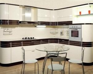 Кухни на заказ, Заказать кухню в Киеве, комбенированые фасады шпон плюс покраска