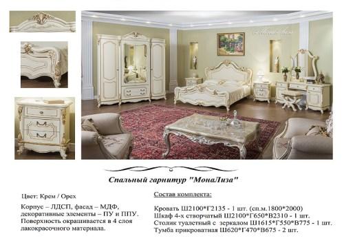 Спальный гарнитур Мона Лиза фабрика РосМебель (СКФМ)