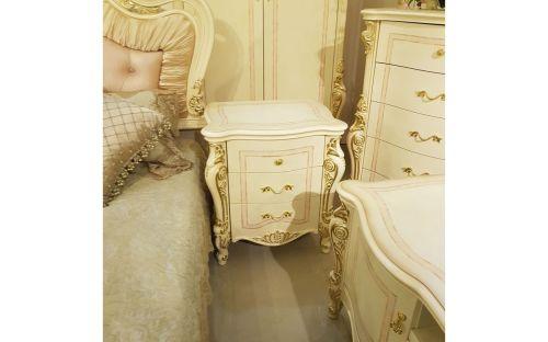 Спальня ДЖУЛЬЕТТА JULIET 3288, с 4-дверным шкафом, беж с золотом