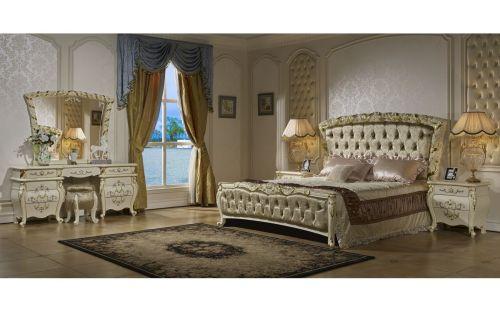 Спальня ФИОРА FIORA 3299, с 4-дверным шкафом, слоновая кость