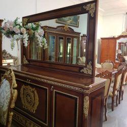 Комод столовый с зеркалом, Монарх, орех