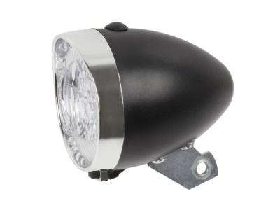 Predné retro svetlo, čierné, LED