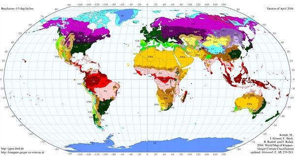 Dünyada Görülen Iklim Türleri Ve özellikleri Mebilgi