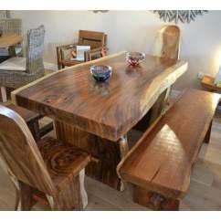 Dining Set With Bench And Chairs Chair Design In Karachi Stół Z Drzewa Suar - Stoły Drewna Egzotycznego Meble Indonezji.pl