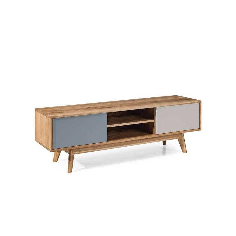 meuble tv de style scandinave 2 portes 2 niches stilo