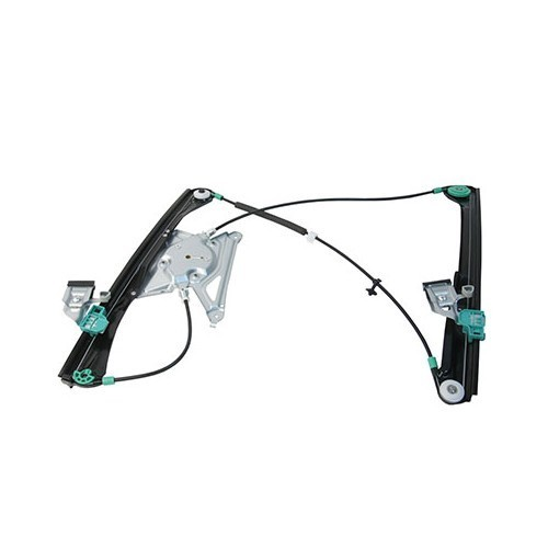 Reinforced front left electric window regulator without