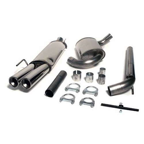 jetex 63 mm stainless steel exhaust pipe for golf 3 gti 8s 16s vr6
