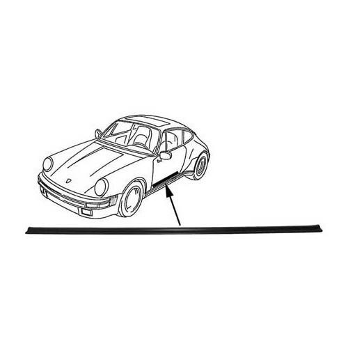 Baguette pince-moquette pour Porsche 911 et 964