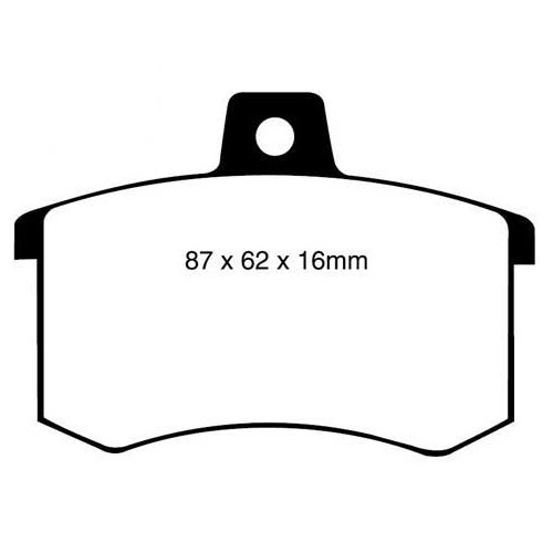Black EBC rear pads for Audi A4 (B5) and A6 (C4) EBCDP370