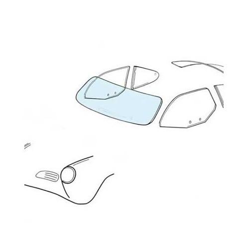Windscreen for Karmann-Ghia Type 14 143845101C 143 845 101