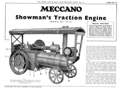 L15 10.15 Showman's Traction Engine Reprint