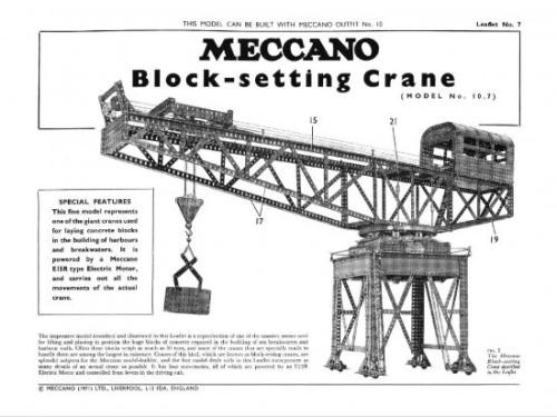 L07 10.7 Block Setting Crane Reprint