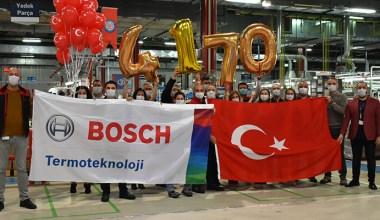 Bosch Termoteknik'ten günlük kombi üretim adedinde rekor!