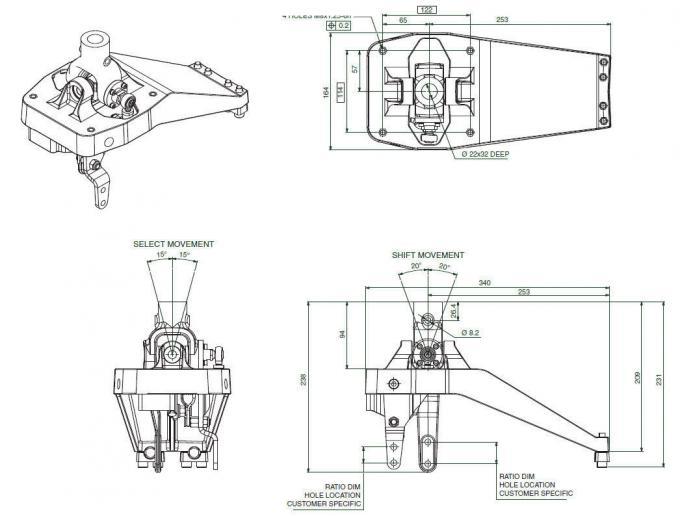 HGS 923 Manual Transmission Shifter Industrial Horizontal