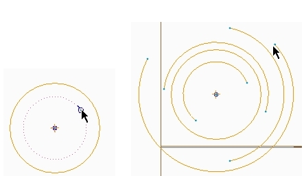 concentric arcs sketch