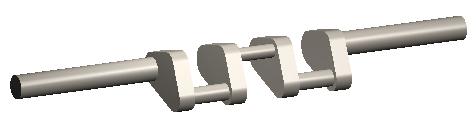 CAD model of crank-shaft