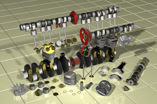small resolution of main parts of an engine
