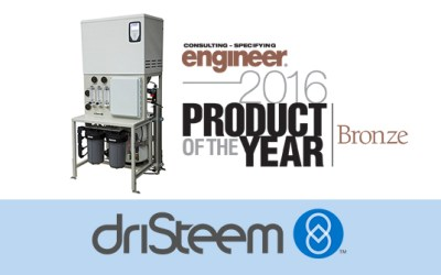 DriSteem's Low-MaintenanceHumidification System Won Consulting-Specifying Engineer 2016 Productof the Year Award
