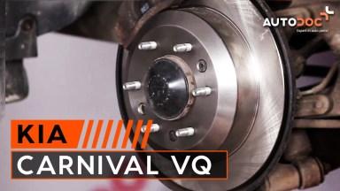 Kia Carnival VQ Bremsen hinten