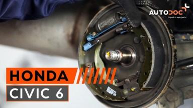 Honda Civic 6 hintere Bremstrommel und Bremsbeläge