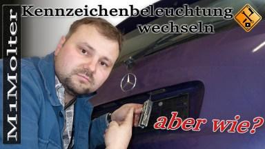 Mercedes A-Klasse Kennzeichenbeleuchtung