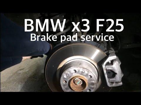 bmw x3 f25 bremsbeläge und sensor hinten wechseln - mechaniker24