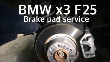 BMW X3 F25 Bremsbeläge und Sensor hinten