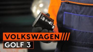 Volkswagen Golf3 Motoröl und Ölfilter