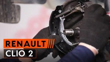 Renault Clio 2 Bremstrommel und Bremsbacken