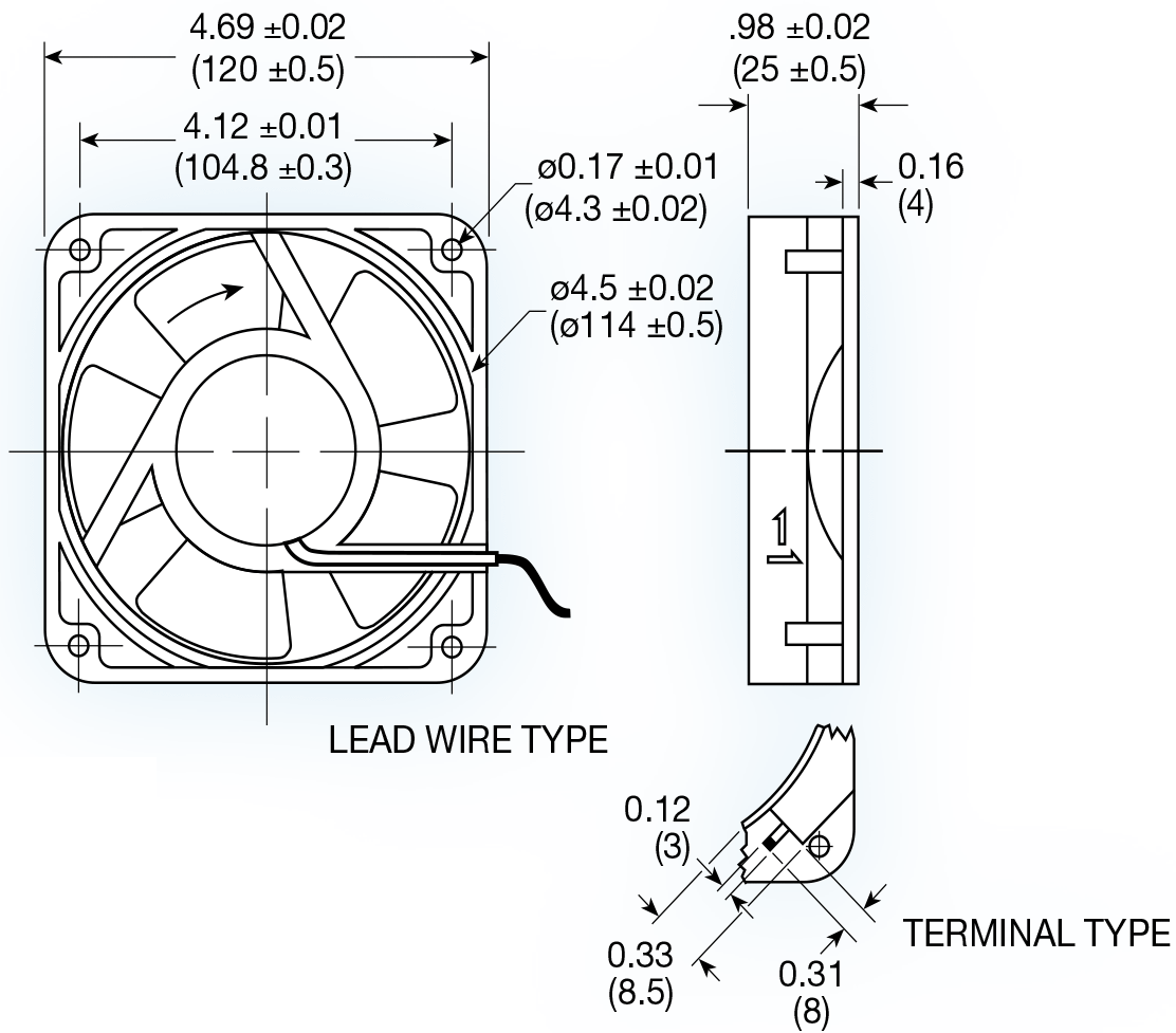 Uf12b Series Ac Axial Fan