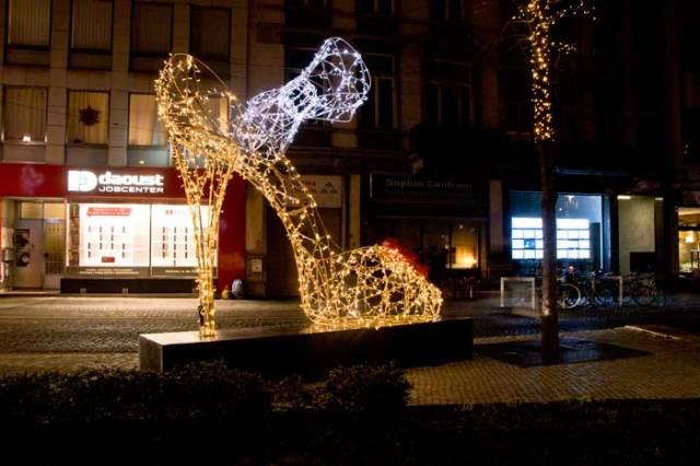 Feeën elementen in winkelcentrum Mechelen
