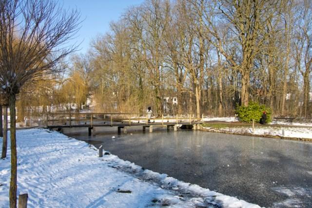 Winter in het Vrijbroekpark