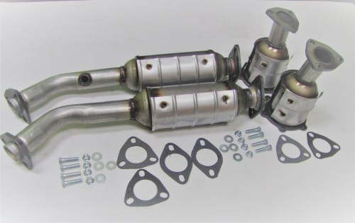 small resolution of 43134 135 64 65 fits 2001 2002 2003 2004 nissan pathfinder 3 5l all 4 catalytic converters