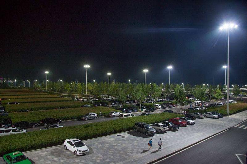 led parking lot lights pole commercial