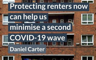 Protecting renters now can help us minimise a second covid-19 wave