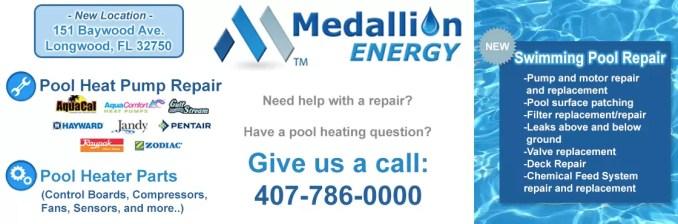 Medallion Energy Pool Heat Pumps Pool Heater Parts Pool Heat Pump Repair