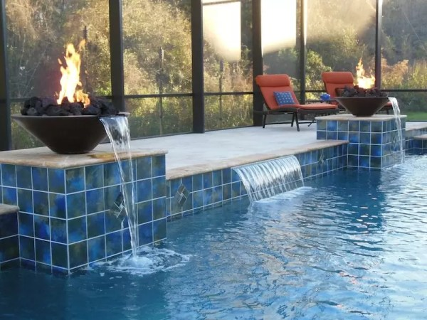 fire pit for pool cheap ways to upgrade your pool