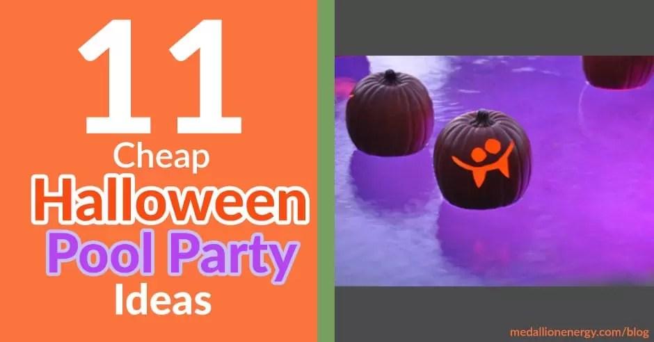 11 Cheap Halloween Pool Party Ideas