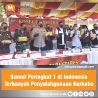 Sumut Peringkat 1 di Indonesia Terbanyak Penyalahgunaan Narkoba