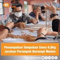 Penampakan Tumpukan Emas 6,8kgJarahan Perampok Bersenpi Medan