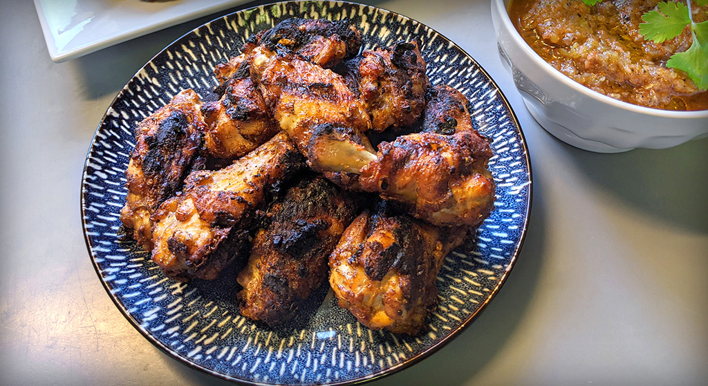 Spicy Grilled Harissa Wings