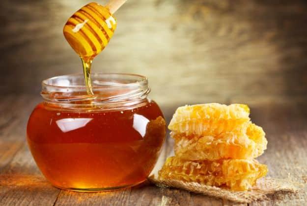 Honey in a jar bottle