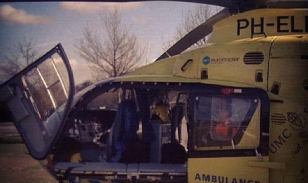 Even een oude foto: de trauma heli (UMCN)