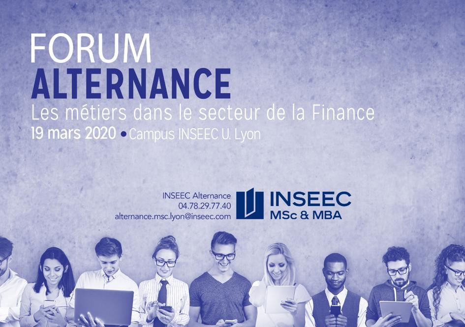 Invitation au forum alternance de l'INSEEC - Medef
