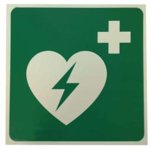 opastekyltti defibrillaattori