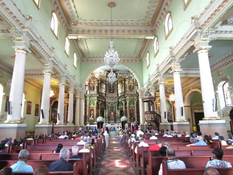The Central Nave Inside Inglesia de Santa Gertrudis