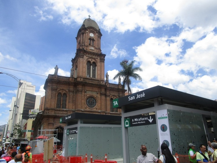 New T-A Station in Front of Iglesia San José