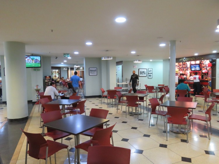 The food court in the hotel