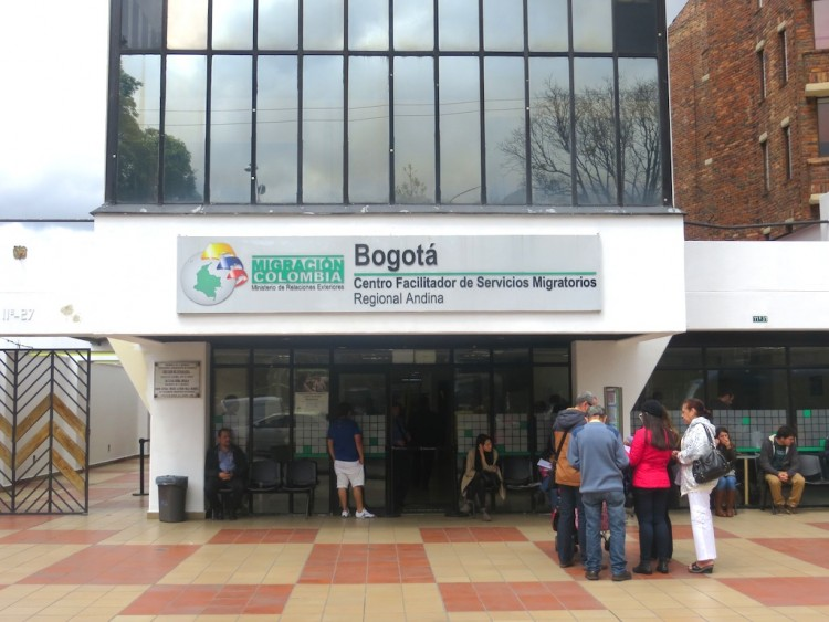 Migración Colombia office in Bogotá, one place to apply for a new cedula