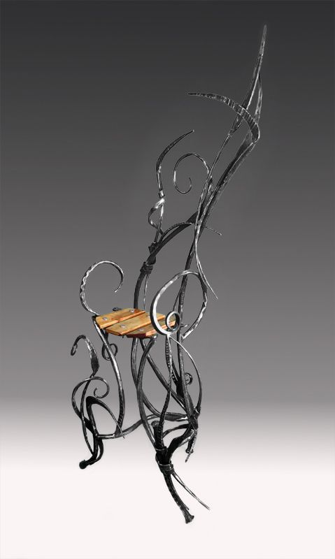 wrought iron chair lazyboy office contemporary furniture by mike edelman